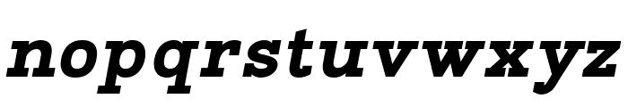 Napo ExtraBold Italic Font LOWERCASE