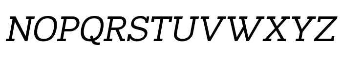 Napo Italic Font UPPERCASE
