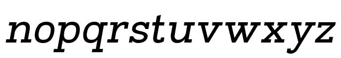 Napo Italic Font LOWERCASE