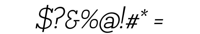 Napo Light Italic Font OTHER CHARS