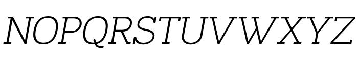 Napo Light Italic Font UPPERCASE