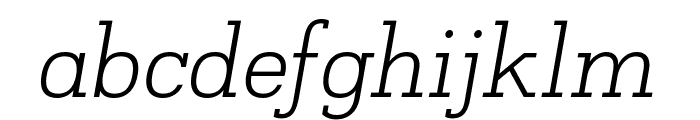 Napo Light Italic Font LOWERCASE