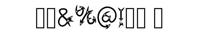 Narrow Arrow Typeface Regular Font OTHER CHARS