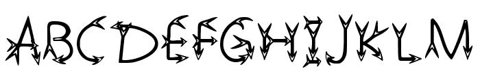Narrow Arrow Typeface Regular Font UPPERCASE