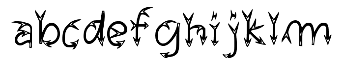 Narrow Arrow Typeface Regular Font LOWERCASE