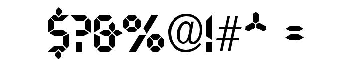 Nasa Display Font OTHER CHARS