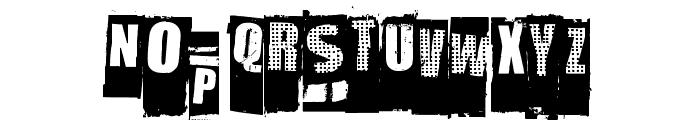 NastyMSG Font LOWERCASE