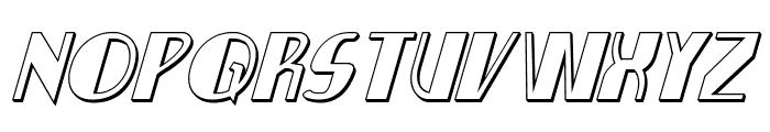 Nathan Brazil 3D Italic Font UPPERCASE
