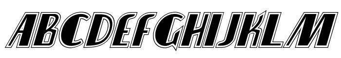 Nathan Brazil Academy Italic Font LOWERCASE