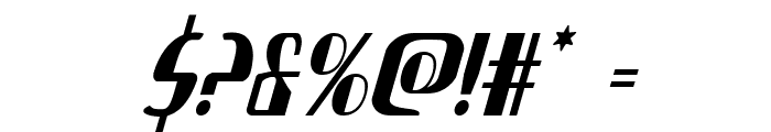 Nathan Brazil Condensed Italic Font OTHER CHARS