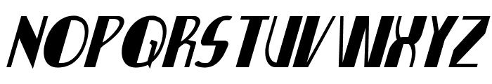 Nathan Brazil Condensed Italic Font UPPERCASE