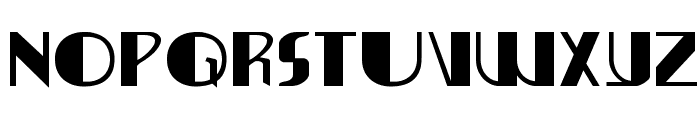 Nathan Brazil Expanded Font LOWERCASE