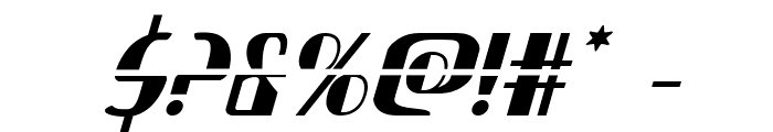 Nathan Brazil Laser Italic Font OTHER CHARS