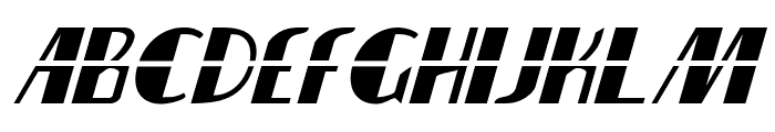 Nathan Brazil Laser Italic Font LOWERCASE