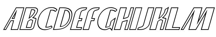 Nathan Brazil Shadow Italic Font LOWERCASE