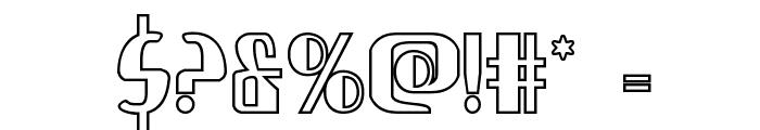 Nathan Brazil Shadow Regular Font OTHER CHARS