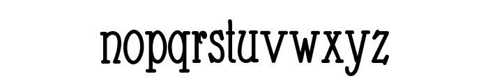 Nathan Condensed Regular Font LOWERCASE
