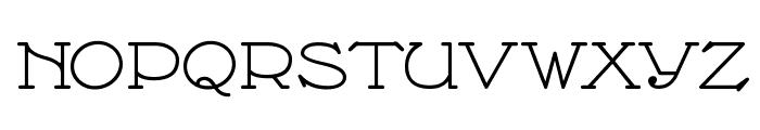 Nathan Expanded Regular Font UPPERCASE