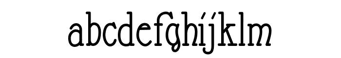 Nathan Regular Font LOWERCASE