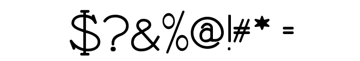 Nathan Semi-expanded Regular Font OTHER CHARS
