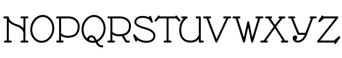 Nathan Semi-expanded Regular Font UPPERCASE