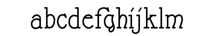 Nathan Semi-expanded Regular Font LOWERCASE