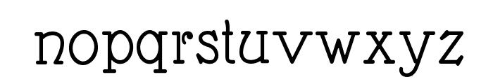 Nathan Semi-expanded Regular Font LOWERCASE