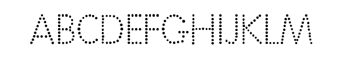 National First Font Dotted Font UPPERCASE