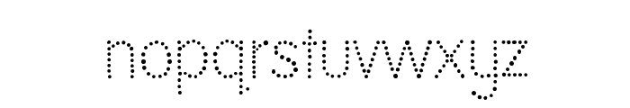 National First Font Dotted Font LOWERCASE