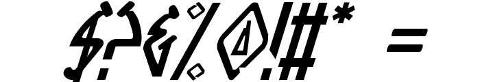 Native Alien Italic Font OTHER CHARS