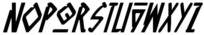 Native Alien Italic Font UPPERCASE