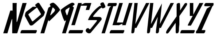 Native Alien Italic Font LOWERCASE