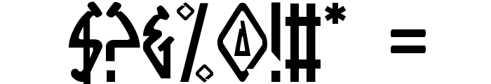 Native Alien Font OTHER CHARS