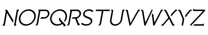 Natura Play Italic Font UPPERCASE