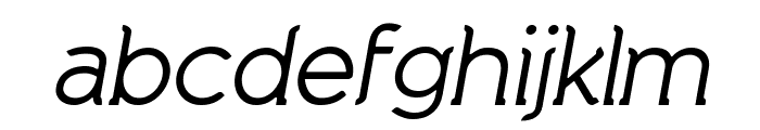 Natura Play Italic Font LOWERCASE