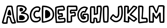 Natural Toons Font UPPERCASE