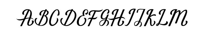 NaturalScript Font UPPERCASE