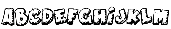 Naughty Cartoons Font UPPERCASE