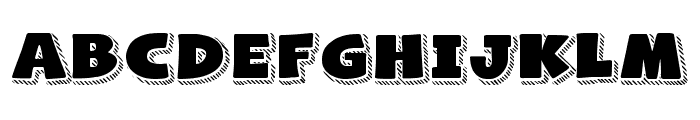 Naughty Squirrel Shadowed Demo Font UPPERCASE