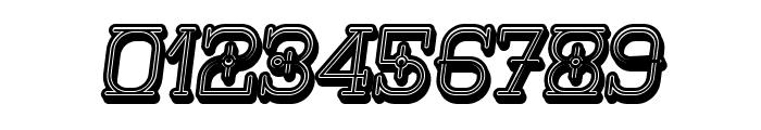 Nautica 3D Italic Font OTHER CHARS