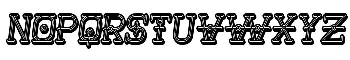 Nautica 3D Italic Font UPPERCASE