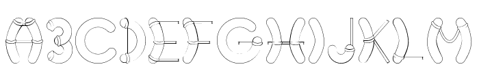 Nautical-Regular Font LOWERCASE
