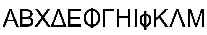 Naxos-Normal Font UPPERCASE