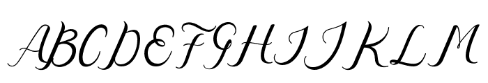 Nazeefa Script Font UPPERCASE