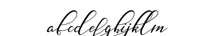 Nazeefa Script Font LOWERCASE