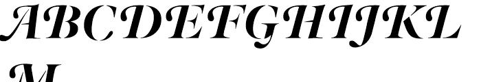 Nadia Swash Italic Font UPPERCASE