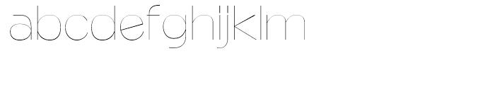 Naked Power Ultra Light Font LOWERCASE