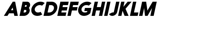 Nanami Black Oblique Font UPPERCASE