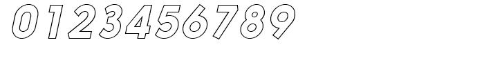 Nanami Outline Oblique Font OTHER CHARS