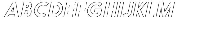 Nanami Outline Oblique Font UPPERCASE